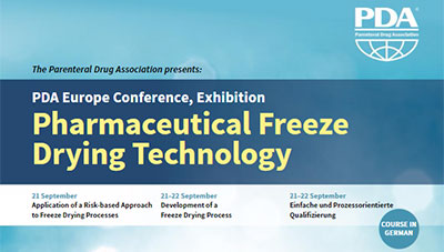 PDA Europe's Freeze-Drying Conference